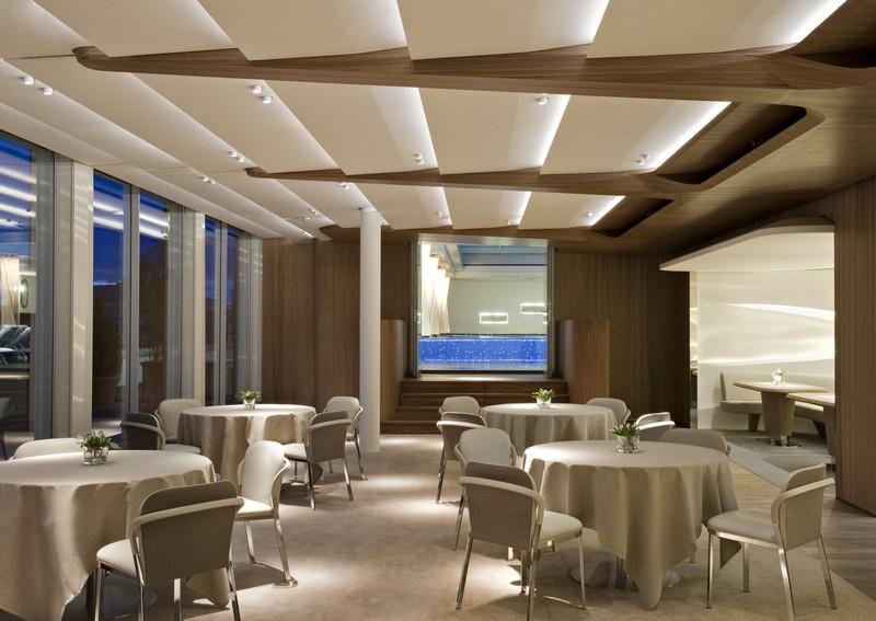 dachgarten hotel münchen umbau offener kamin mittelpunkt sitzplatz